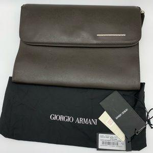 GIORGIO ARMANI Document clutch